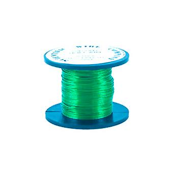 1 x Bright Green Plated Copper 1.25mm x 3m Round Craft Wire Coil X1505