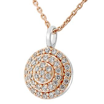 Orphelia Silver 925 Chain With Pendant Round And Rosegold Plated Zirconium (Zk-7200/Rg)  ZH-7120