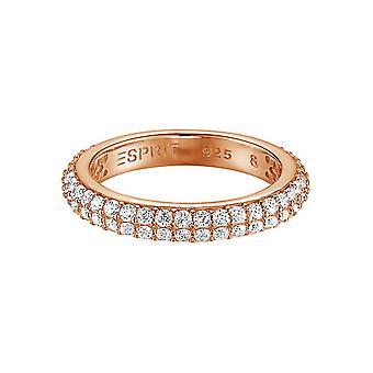 ESPRIT women's ring silver Rosé cubic zirconia elegance ESRG91667G1