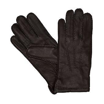 LLOYD mens gloves gloves deerskin Brown 6444