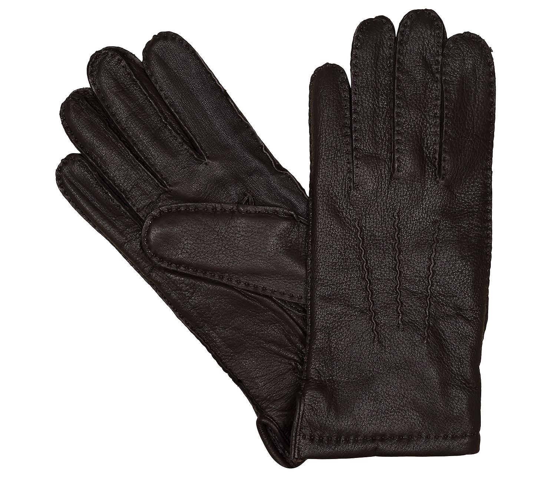 LLOYD Pour des hommes gants gants daim marron 6444