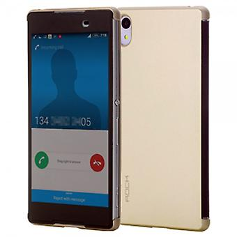 ROCK shadow smart cover gold for Sony Xperia Z3 plus E6553 and dual