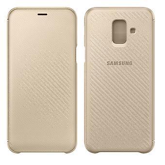 Samsung tegnebog cover tilfældet elementærfilen WA605CFEGWW Galaxy A6 plus 2018 A605F cover guld