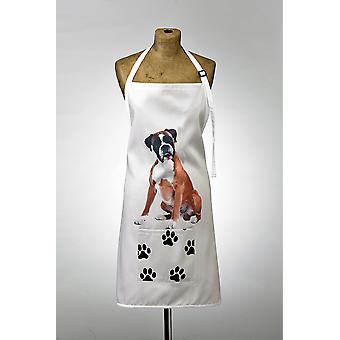 Adorable boxer design apron