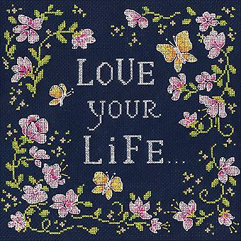 Love Your Life Counted Cross Stitch Kit-10