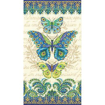 Peacock Butterflies Counted Cross Stitch Kit-8