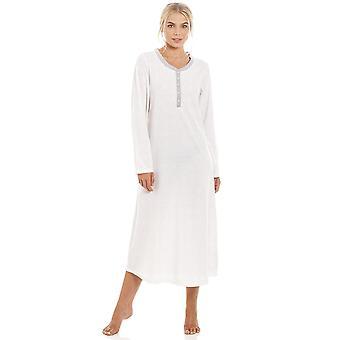 Серый Камиль ПИН Dot длинные Ткани поликоттон ночная рубашка