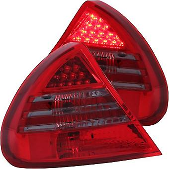 AnzoUSA 321253 Red/Smoke LED Taillight for Mitsubishi Mirage - (Sold in Pairs)