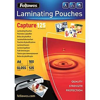 Laminate sheet Fellowes A6 125 micron glossy 100 pc(s)