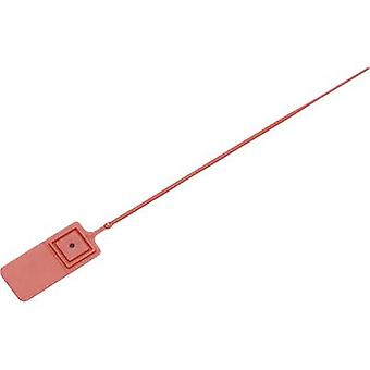 TRU COMPONENTS 1457897 Cable tie seal 140 mm Red Stepless adjustment 1 pc(s)
