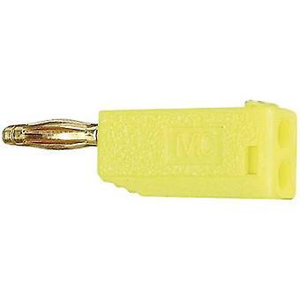 Stäubli SLS205-A Straight blade plug Plug, straight Pin diameter: 2 mm Yellow 1 pc(s)