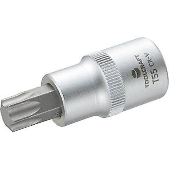 TOOLCRAFT 816169 TORX socket Bit T 55 1/2 (12.5 mm)