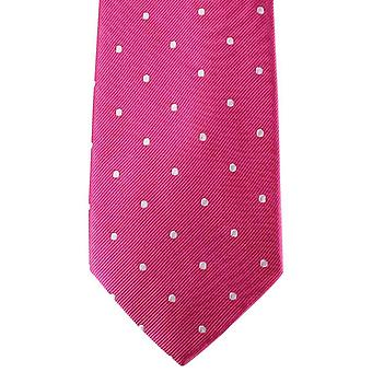 David Van Hagen Polka Dot Tie - Pink/White