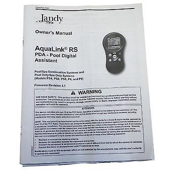 Jandy AquaLink RS PDA ägarens manuell Firmware version 4.1