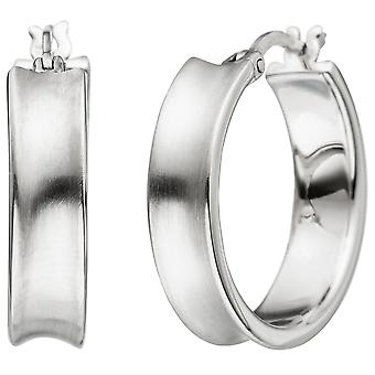 Hoop earrings 925 sterling silver matt earrings kitchen Silver earrings