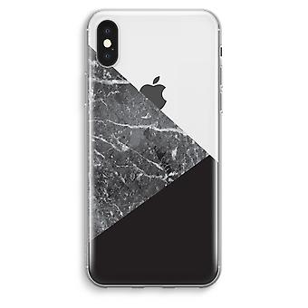 iPhone XS Max Transparent Case (Soft) - Marble combination