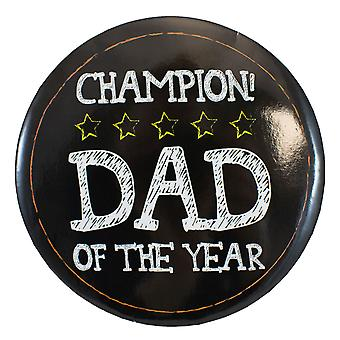 TRIXES Champion Dad of the Year Badge with Stand Oversized Fathers Day Birthday Novelty Gift Present
