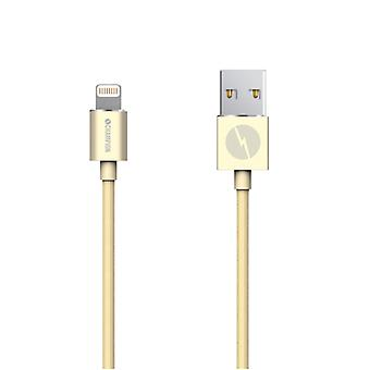 Champion Lightning cable 2 m Gold. iPhone, iPad