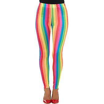 Accesorio de circo de Rainbow payaso damas leggings carnaval arco iris