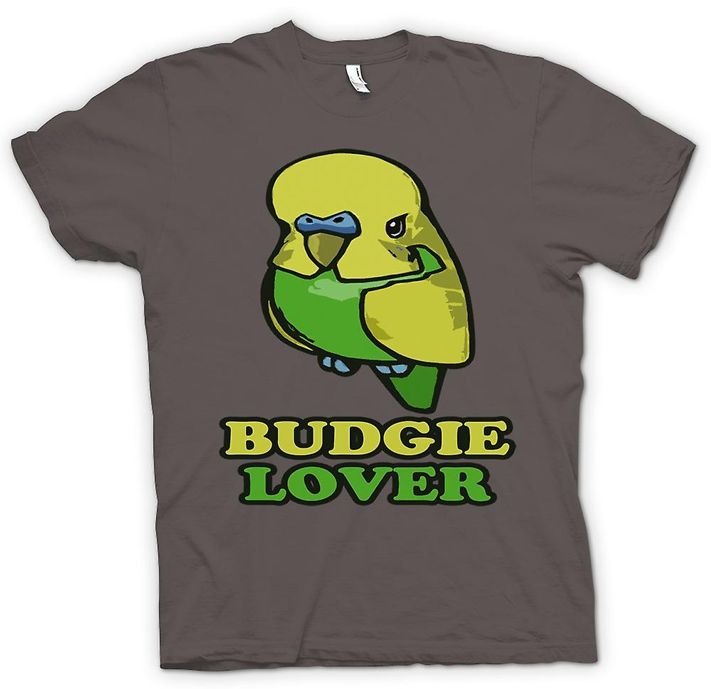 Heren T-shirt-Budgie minnaar