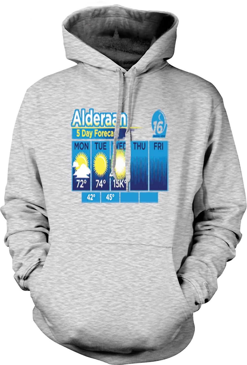Mens Hoodie - Alderaan 5 Day Weather Forcast - Star Wars