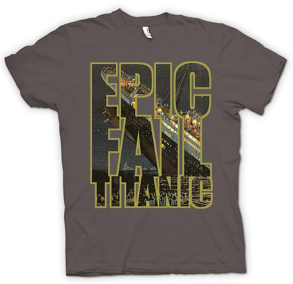 Womens T-shirt - Epic Fail Titanic - Funny