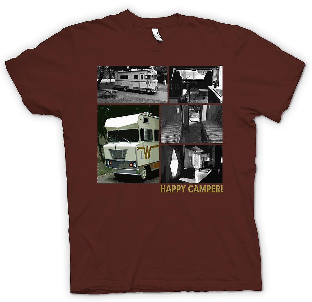 Herr T-shirt - Happy Camper - Retro Winnebago