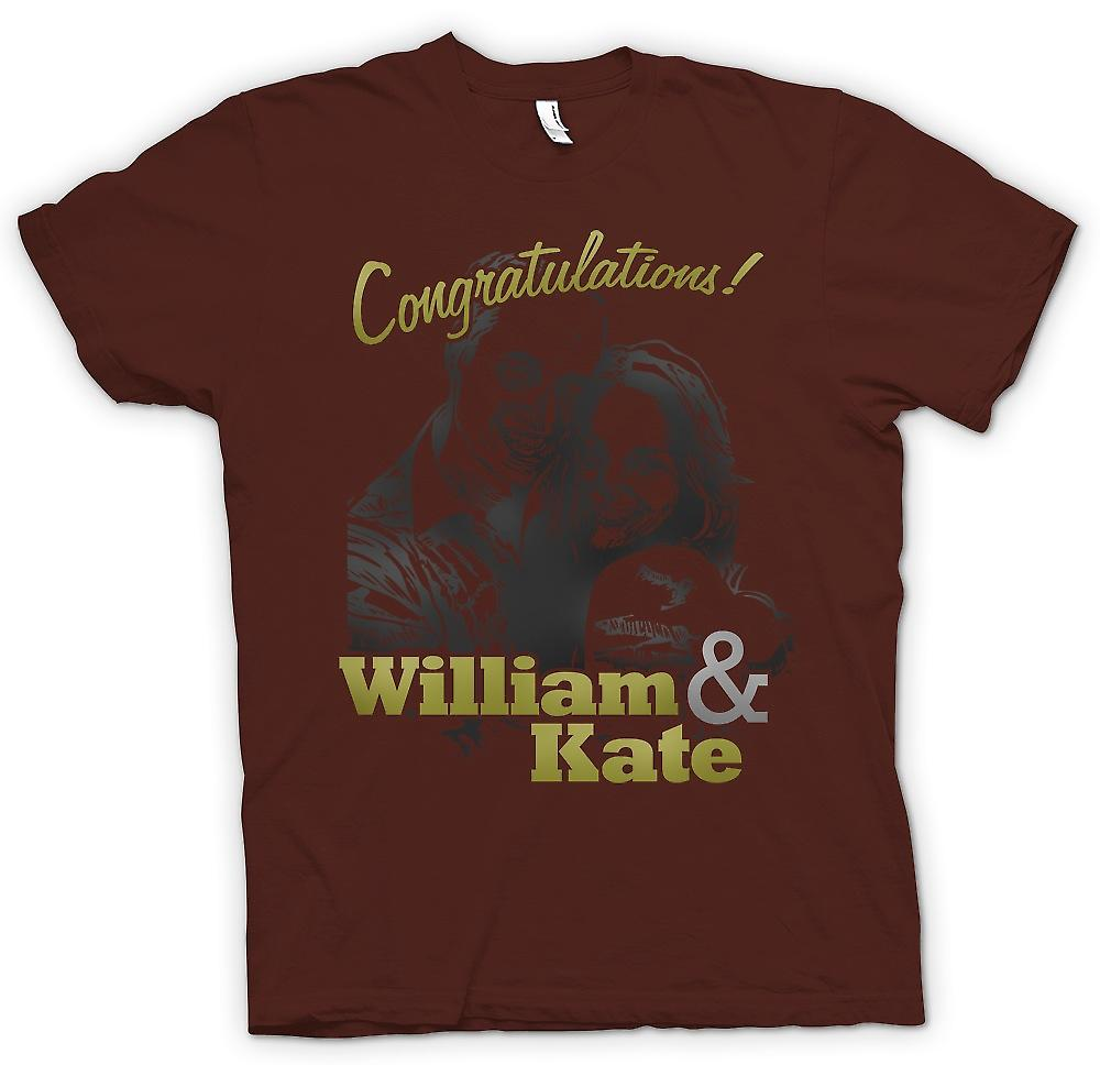 Mens T-shirt - Congratulations William And Kate