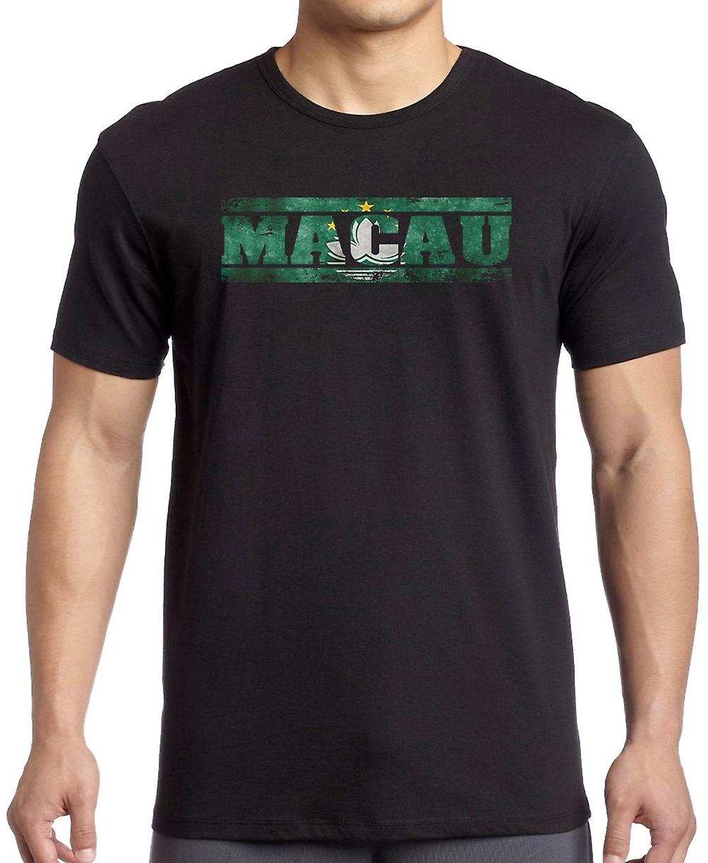 Macau Flag - Words Kids T Shirt