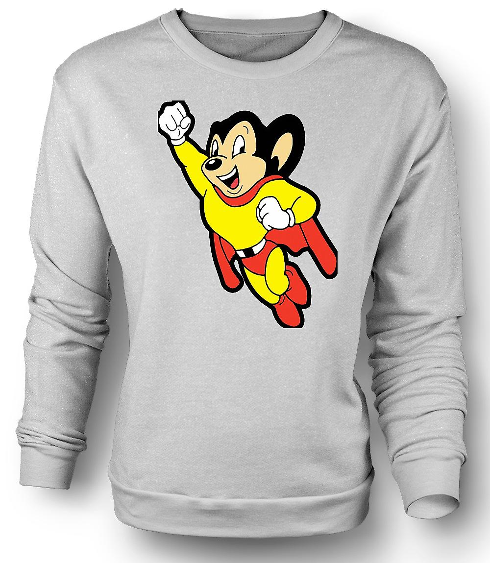 Felpa Mens Mighty Mouse - divertente - del fumetto