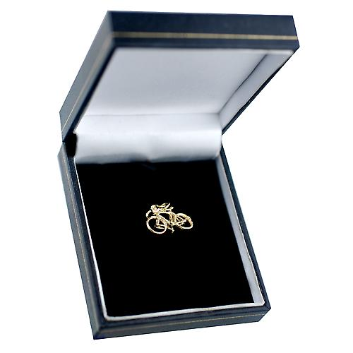 9ct yellow gold 13x22mm Bicycle Charm or Pendant