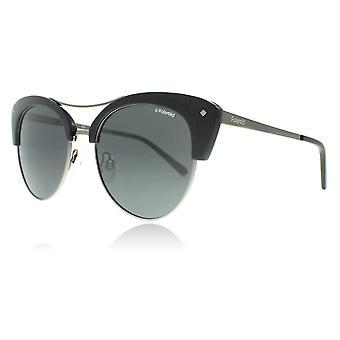 Polaroid 4045S CVS zwart Palladium 4045S ronde zonnebril gepolariseerde Lens categorie 3 grootte 51mm