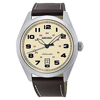 Seiko analogue watch automatic men's watch with leather SRPC87K1