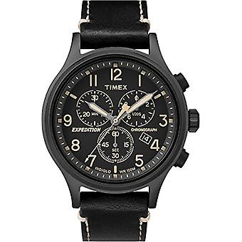 Timex Watch chronograph quartz men's watch with leather TW4B09100