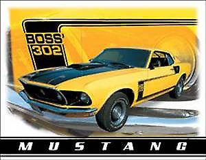 Ford Mustang Boss 302 Metal Sign
