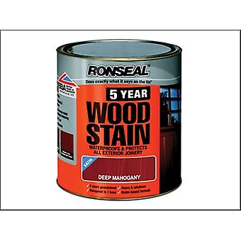 Ronseal 5 anni Woodstain profondo mogano 750ml