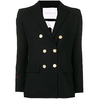 Giada Benincasa Black Cotton Blazer