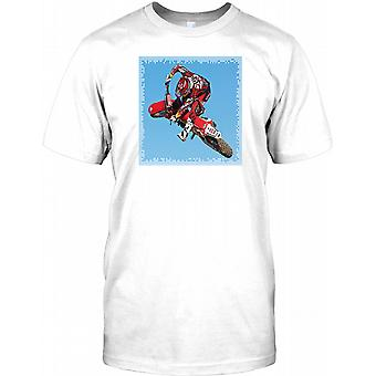 Motocross Freestyle Extreme Stunt Rider Mens T Shirt