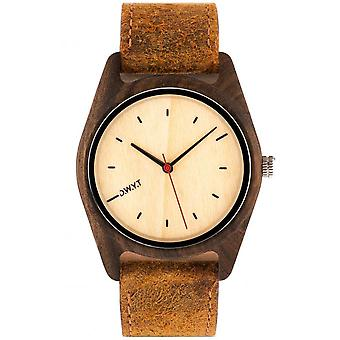 Watch D.W.Y.T DW-00105-1005 - Sequoia wood mixed brown leather