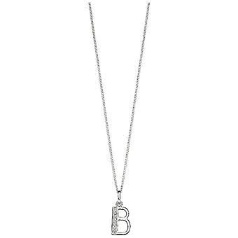 Beginnings Art Deco Initial B Pendant - Silver
