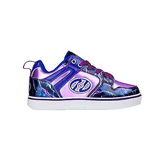 Heelys Lilac-Electric Blue-Lightning Motion 2.0 Girls One Wheel Shoe