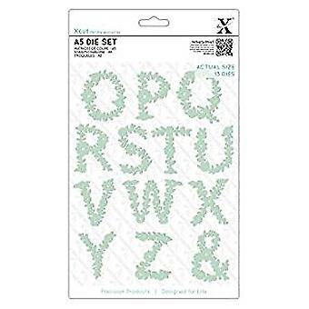 Xcut Dies (13pcs) - Floral Alphabet O-Z (XCU 503059)