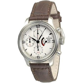 Zeno-watch mens watch NC retro Chrono power reserve 9553TVDPR-e2-N2