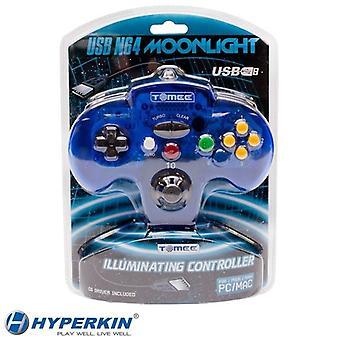 Tomee Nintendo 64 PC & MAC USB Moonlight Illuminating LED GamePad Controller