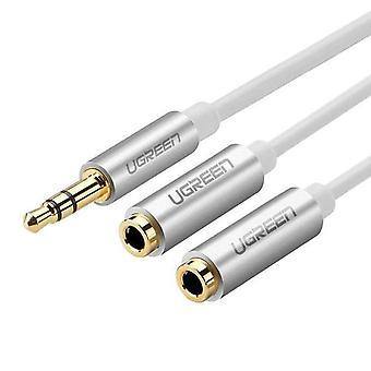 UGREEN 3,5 mm AUX cable divisor de audio estéreo-blanco