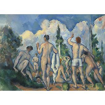 Bathers,Paul Cezanne,50x36cm