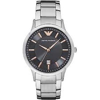 Emporio Armani Ar11179 Black Dial Stainless Steel Bracelet Mens Watch