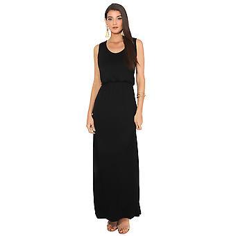 KRISP Shirred Waist Sleeveless Maxi Dress