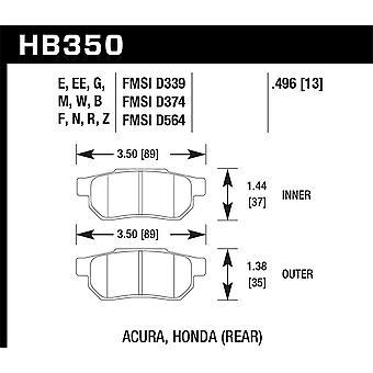 Hawk Performance HB350Z. 496 PC