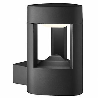 Luz de parede exterior de alumínio LED cinza Ip54
